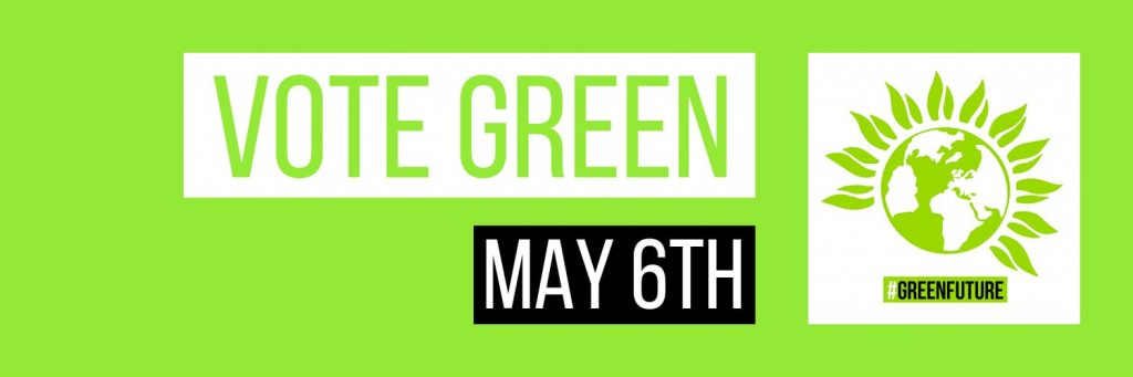 Vote Green May 6th banner.